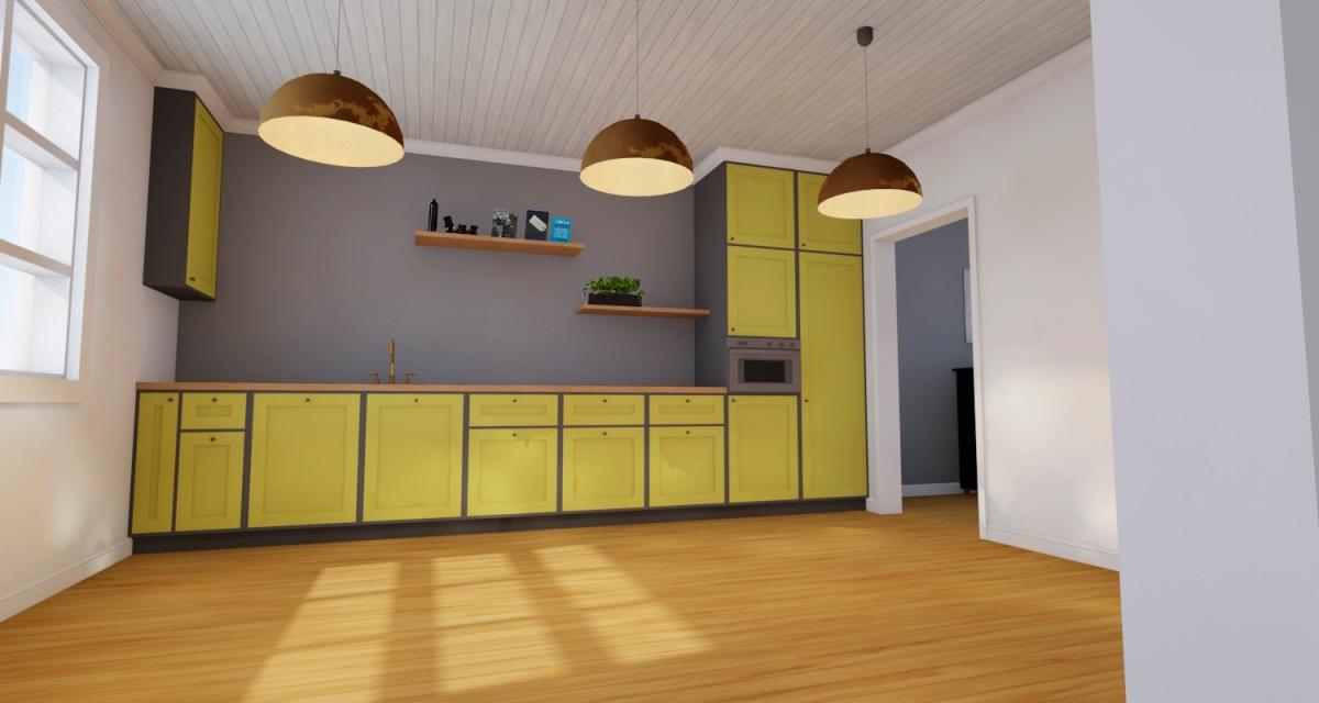 3D-visualisointi keittiöstä